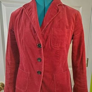 Talbots Women's Burnt Red Corduroy Jacket Size 4